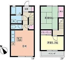 [テラスハウス] 神奈川県藤沢市大鋸2丁目 の賃貸【神奈川県 / 藤沢市】の間取り