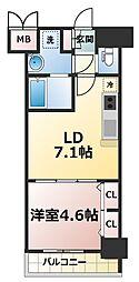 スプランディッド新大阪キャトル[5階]の間取り