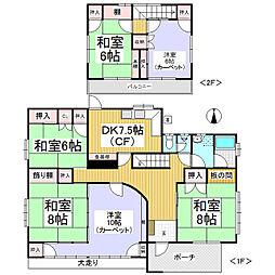 [一戸建] 長野県長野市大字稲葉 の賃貸【/】の間取り