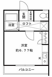 神奈川県横浜市港北区篠原台町の賃貸アパートの間取り