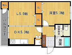 松田マンションA棟[162号室]の間取り