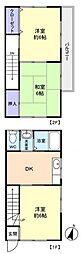 [テラスハウス] 千葉県八千代市勝田台1丁目 の賃貸【千葉県 / 八千代市】の間取り