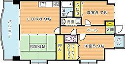 オロマーレ折尾南I[8階]の間取り