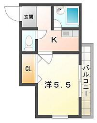 栄町グリーンハイツ[1階]の間取り