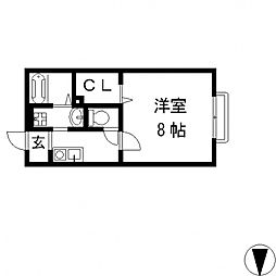 ミラーハイツIII[203号室号室]の間取り