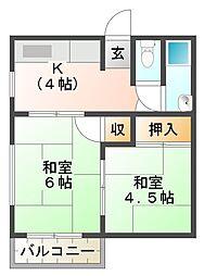 高倉文化[2階]の間取り
