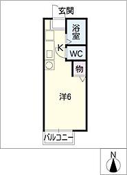 ピアセジュール[1階]の間取り
