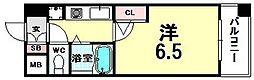 ホープシティー天神橋[8階]の間取り