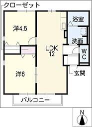 レトア清須[2階]の間取り
