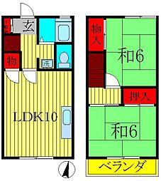 [テラスハウス] 千葉県松戸市小金原5丁目 の賃貸【千葉県 / 松戸市】の間取り
