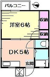 内田マンション[3階]の間取り