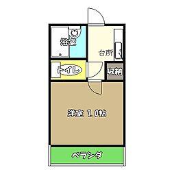 高知県高知市塩田町の賃貸アパートの間取り