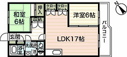 広島県広島市西区己斐上2丁目の賃貸マンションの間取り