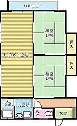 コーポ円(まどか)[201号室]の間取り