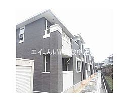 岡山県倉敷市西阿知町新田丁目なしの賃貸アパートの外観
