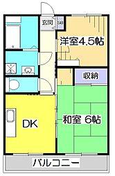 ユー15ビル[2階]の間取り
