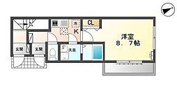 (仮)小田原市小台新築工事[102号室]の間取り