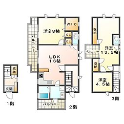 [テラスハウス] 兵庫県神戸市垂水区霞ケ丘5丁目 の賃貸【/】の間取り