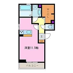 三重県四日市市城北町の賃貸アパートの間取り