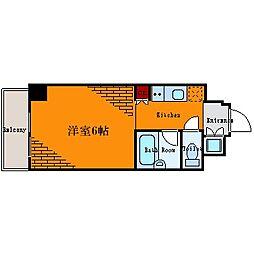 ルーブル日本橋[3階]の間取り