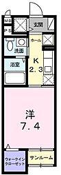東京都羽村市神明台1丁目の賃貸マンションの間取り