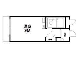 グランデ西京極[2階]の間取り