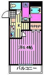 アンプルールフェールASAHI[3階]の間取り