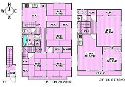 [一戸建] 東京都葛飾区四つ木4丁目 の賃貸【/】の間取り