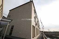 岡山県岡山市中区中島の賃貸アパートの外観