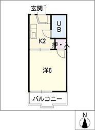 コーポ春木台[2階]の間取り