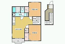 ウィングガーデンB[2階]の間取り