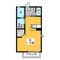 シプレーヌM[2階]の間取り