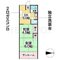 愛知県名古屋市瑞穂区瑞穂通8丁目の賃貸マンションの間取り