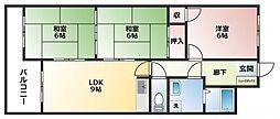 コーポKAZU[2階]の間取り