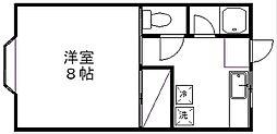 新潟県新潟市西区五十嵐2の町の賃貸アパートの間取り