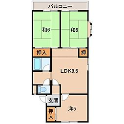 畑野マンション[3階]の間取り