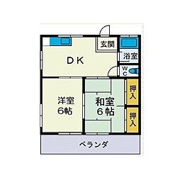 鈴英アパート[2階]の間取り