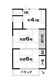 コーポユーカリ[2階]の間取り