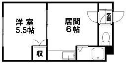 トータスプラザ[211号室]の間取り