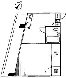 ビッグ武蔵野池袋[3F号室]の間取り