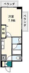 東京都荒川区西日暮里5丁目の賃貸マンションの間取り