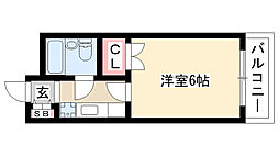 愛知県名古屋市守山区茶臼前の賃貸マンションの間取り
