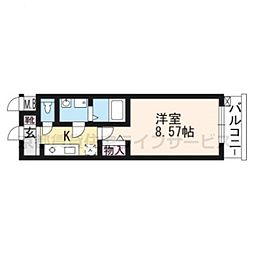 レジディア京都駅前[804号室]の間取り