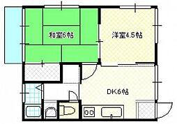 清木ビル[3階]の間取り