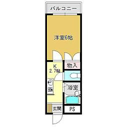 グローバル高田[4階]の間取り