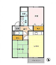 サンハイムS&H[2階]の間取り