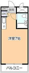 ラレーブ久米川[2階]の間取り