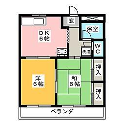 第一鬼頭マンション[4階]の間取り