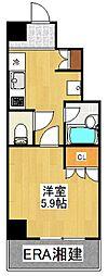 VIVRE横浜白楽弐番館[402号室]の間取り