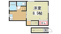 エトワール篠原[2階]の間取り
